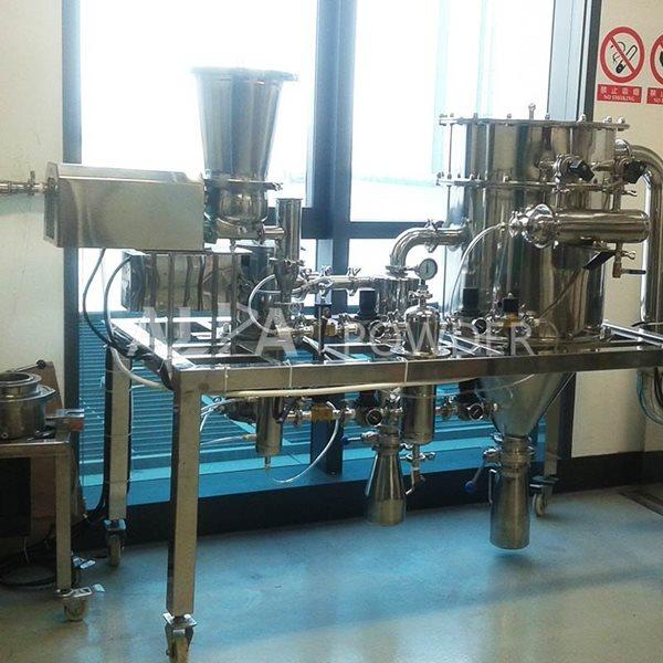 中石油钻井院实验室使用的三合一气流粉碎分级机